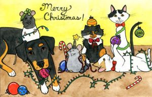 Merry Christmas from all of us by MonaLisaSmile23