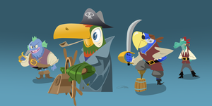 Pirates  (animal) Characters (WIP) by Gilmec