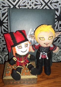 Cicero and Cevenor Plushies by SlayerSyrena