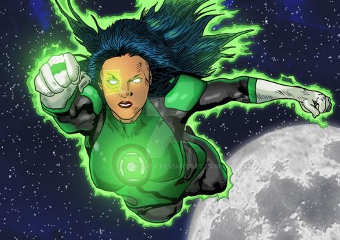 Green Lantern Jessica Cruz by zarejpv