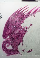Dragons of the Twilight Dream WIP 01C by rachaelm5