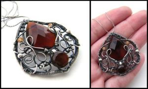 brown pendant by annie-jewelry