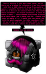 The Mark Space Companion Cube by Noxious-Croww