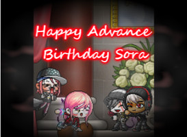 Happy Adv  B-Day Sora Chan by 4EverAlonei
