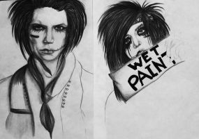New Sketches of Andy by KatarinaAutumn