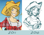 Then and now: Fem!America by fra-gai