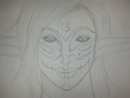 Chaos Warlord: Lyn Blackheart smiley face by Jade-Queen-Of-Souls
