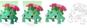 Venusaur (process) by placitte2012