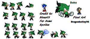 Duke Sprite Sheet by DukeDN