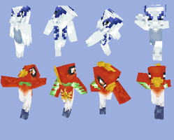 Ho-oh + Lugia Minecraft Skins by Little-Puppie