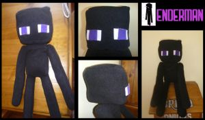 Minecraft Enderman Plush by ChibiTigre