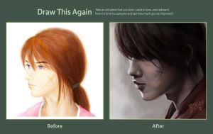 My Kenshin 2008 and now by amie689