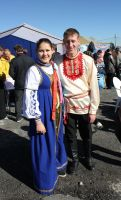 Young couple in traditional dress by Hudojnica