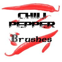 Chili Pepper Brushes by firebug-stock