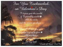Happy Valentines Day Toeknee by LeoRa