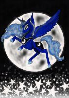 Luna full moon by Wojak1991