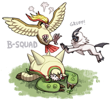 Rest of XY team by emlan