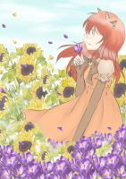 Toru - In The Middle of Flower Field by 22PurpleFeathers