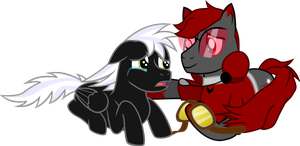 Thaddeus and Nasa - Virtual Brothers by Firestorm-CAN