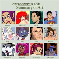 2011 summary of art by rocketdave