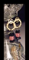 Rose Quartz Angel Earrings by querulousArtisan