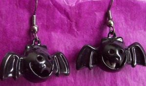 Bat Earrings That Jingle by BastsBoutique