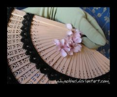 Fan With Black Lace 1 by nehinei