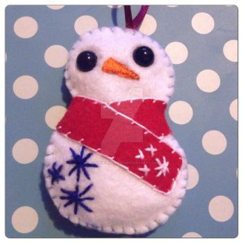 Snowman Ornament Version 2 by plushie-junkie07