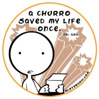 Mr. Goh - Churro Sticker by soks2626