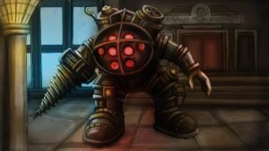 Bioshock Big Daddy, digital painting by BigBigBigDaddy