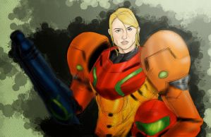 Samus Messy Sketch by zclark