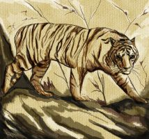 Chinese tiger by xArtyFFx19