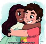 Steven and Connie by HazuraSinner