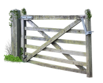 Wooden Farm Gate PNG.. by Alz-Stock-and-Art