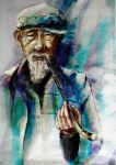 smoking oldman by ahbi
