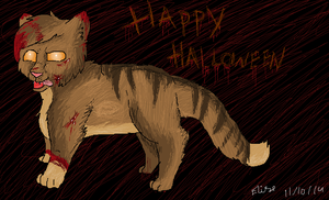 Halloween Cat by MiddyLPS
