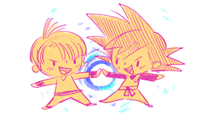 Trunks and Goten by jingster