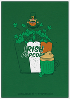Irish Popcorn T-Shirt for St. Patrick's Day by Isibee