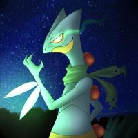 _Summer Request: Shiny Sceptile by Colorful-Gray