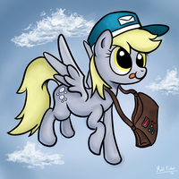 Derpy the Mail Pony by xAxiom