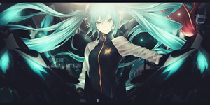 Hatsune Miku with Flag by Enabels