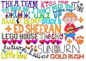 Ed Sheeran song titles. by The-Crystizzler1990