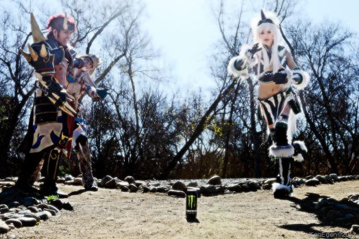 Monster Hunter Group Hunting a can of Monster by JFamily