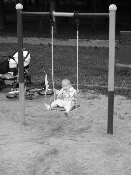 little girl on swings by nadnad1992