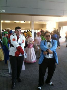 Psy and the Medic @ Sacanime 2013 by hoodoosteve