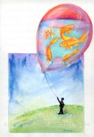 Goldfish Balloon by rachaelm5