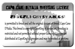 Capo Cane Breeding License by galianogangster