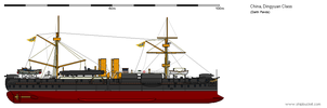 Pre-Dreadnought Battleship Dingyuan by darthpandanl