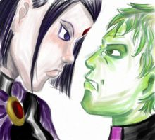Raven and Beast Boy by RanaTilion