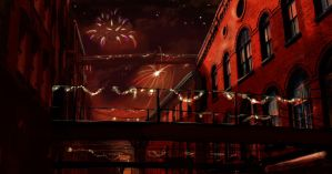 Nighttime Fireworks by soapdish